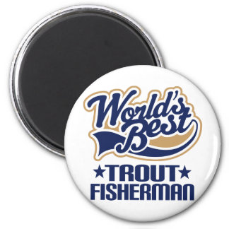 Trout Fisherman Gift 2 Inch Round Magnet