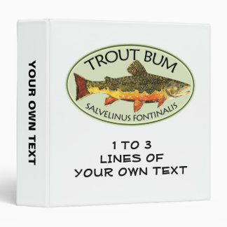 Trout Fishing 3 Ring Binders