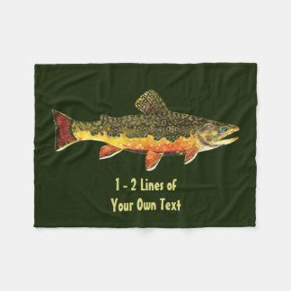 Trout Fishing Fleece Blanket