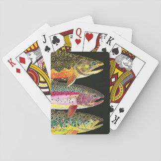 Trout Fishing Game Playing Cards