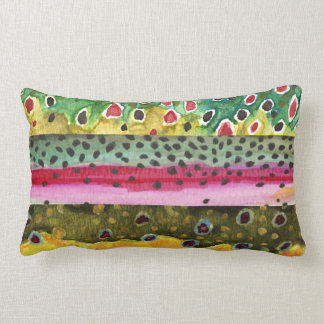 Trout Fishing Lumbar Pillow