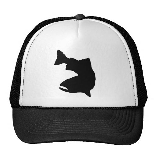 TROUT FISHING VECTOR GRAPHIC TRUCKER HATS