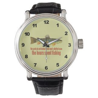 Trout Fly Fisherman Watch
