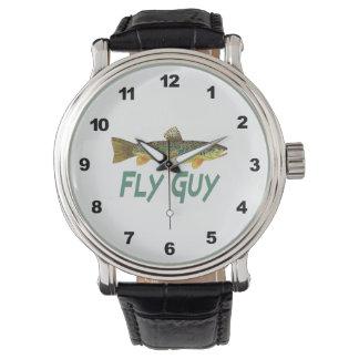 Trout Fly Fisherman Wrist Watch