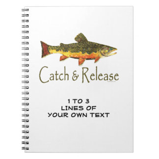 Trout Fly Fishermen Spiral Notebook