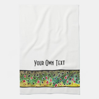 Trout Fly Fishing Kitchen Towel