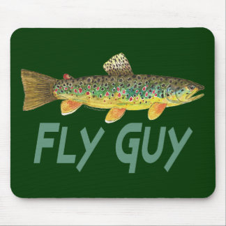 Trout Fly Fishing Mouse Pad