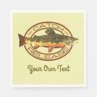 Trout Fly Fishing Party Disposable Napkin