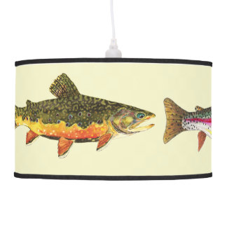 Trout Fly Fishing Pendant Lamp