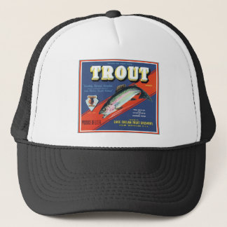 Trout Lake Chelan Fruit Growers Vintage Label Trucker Hat