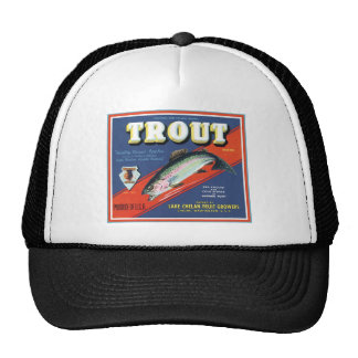 Trout Lake Chelan Fruit Growers Vintage Label Trucker Hat