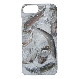 Trout Season Releasing Trout Into the Lake iPhone 8/7 Case
