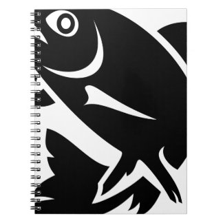 Trout Silhouette Notebook