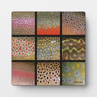 Trout Skin Mosaic Plaque