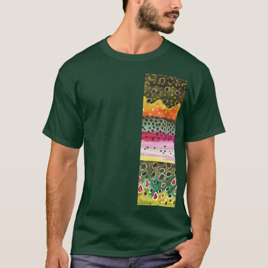 Trout Skins: Brook Rainbow Brown - Fly Fishing T-Shirt