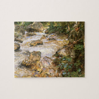 Trout Stream in the Tyrol by John Sargent Jigsaw Puzzle