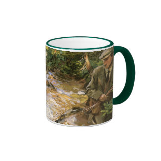 Trout Stream in the Tyrol by John Sargent Ringer Coffee Mug