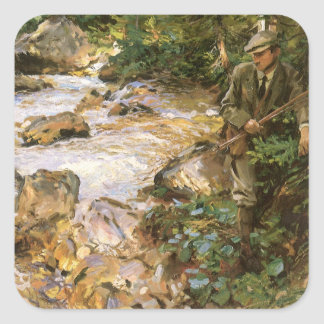 Trout Stream in the Tyrol by John Singer Sargent Square Sticker