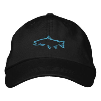 Trout Tracker Hat - Blue Embroidered Hat