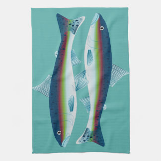 Trout Twins Kitchen Towel