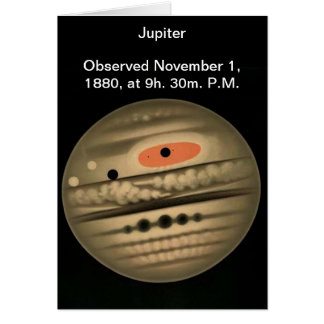 Trouvelot Astronomy Jupiter Drawing Card