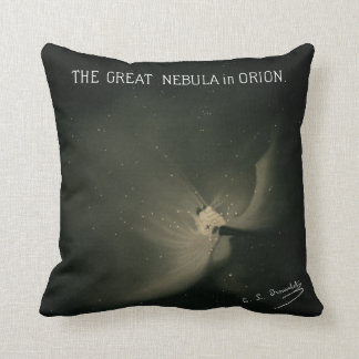 Trouvelot Drawings - The Great Nebula in Orion Throw Pillow