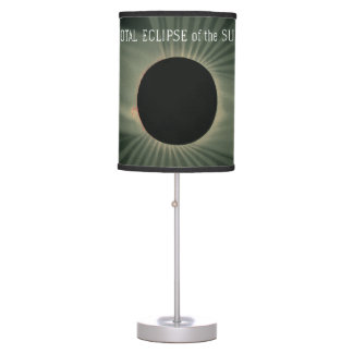 Trouvelot Drawings - Total Eclipse of the Sun Table Lamp