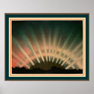 Trouvelot's Aurora Borealis 16 x 20 Poster