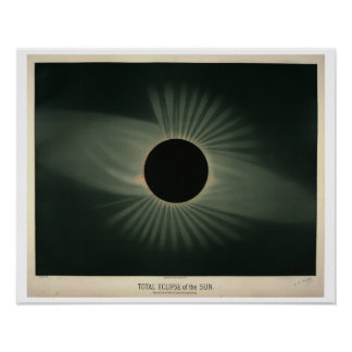 Trouvelot's Eclipse of the Sun Poster