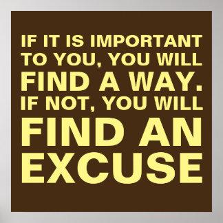 Trouvez une manière ou l'excusez poster