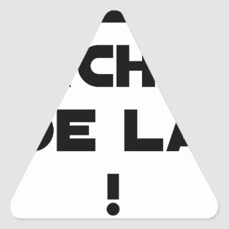 Trowels from there! - Word games - François City Triangle Sticker