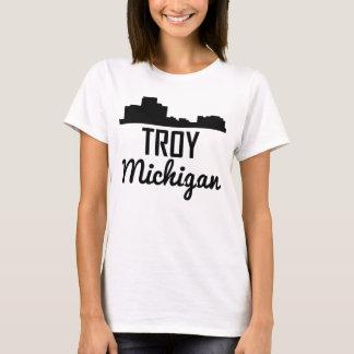 Troy Michigan Skyline T-Shirt