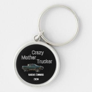 truck, Crazy, Mother, Trucker, Kansas Cummins, ... Silver-Colored Round Keychain