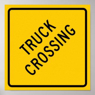 Truck Crossing Highway Sign