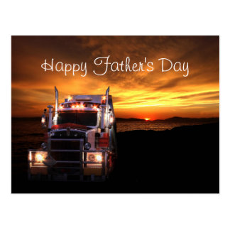 Truck Driver Father's Day Postcard