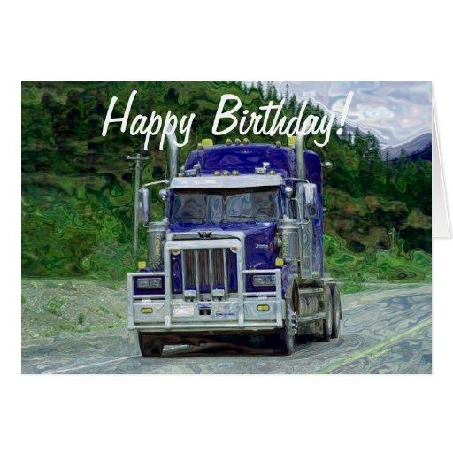 TRUCK Driver Funny Trucker Birthday Cards | Zazzle Someone Writing