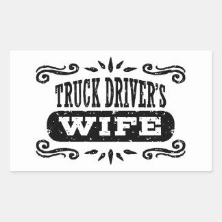 Truck Driver's Wife Sticker