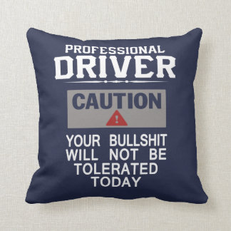 Truck Driver Safety Throw Pillow