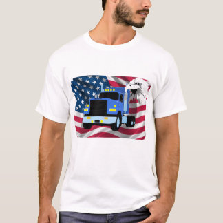 Truck Driver T-shirt with US Flag and Eagle