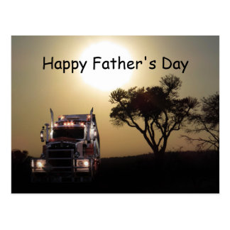 Truck Drivers Father's Day Postcard