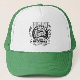 Truck Driving Legends Are Born In December Trucker Hat