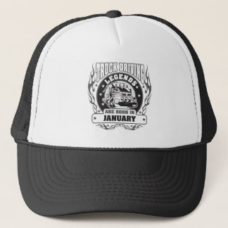 Truck Driving Legends Are Born In January Trucker Hat
