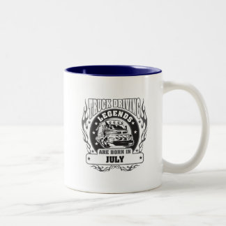 Truck Driving Legends Are Born In July Two-Tone Coffee Mug