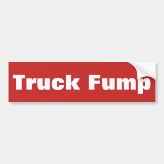 Truck Fump - bumper sticker