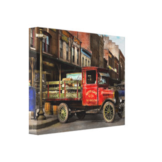 Truck - Home dressed poultry 1926 Canvas Print