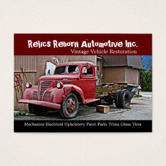 Truck in Back Alley Mechanics Repair Shop Business Card
