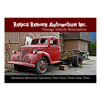 Truck in Back Alley Mechanics Repair Shop Large Business Card