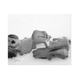 """Truck in Snow"" jjhelene Wrapped Canvas"