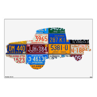 Truck License Plate Art Boys Room Road Trip Decal