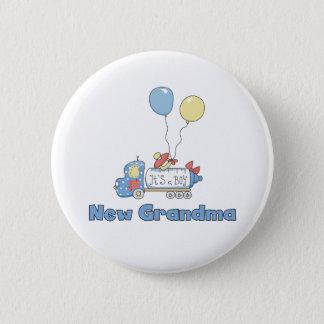 Truck New Grandma Baby Boy 2 Inch Round Button